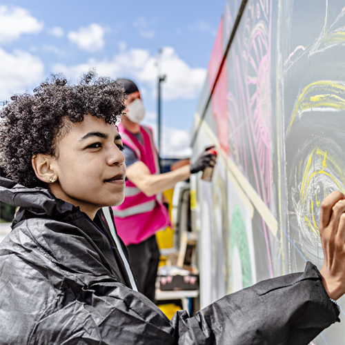 Roxy, Youth Mural Participant