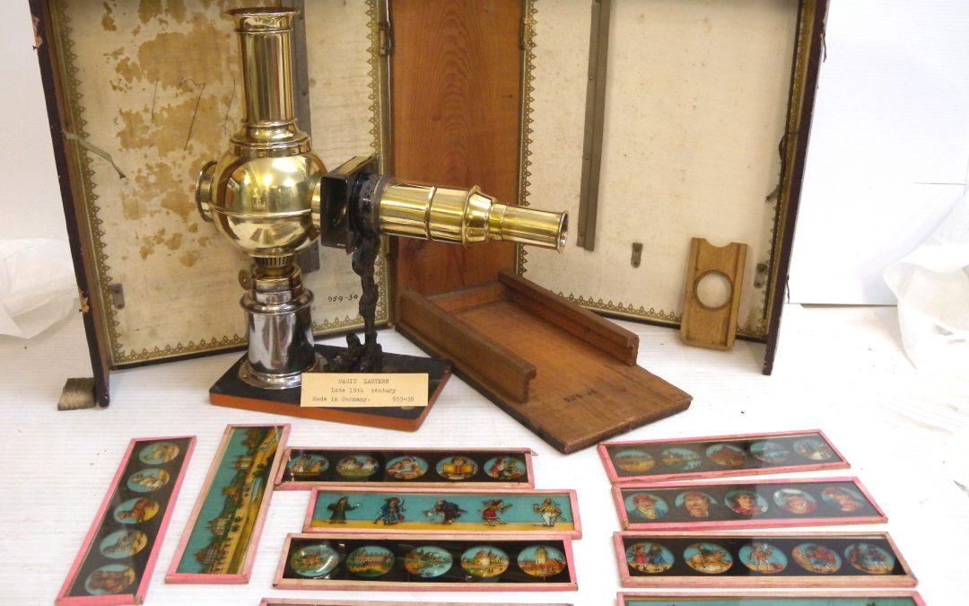 A magic lantern and set of slides