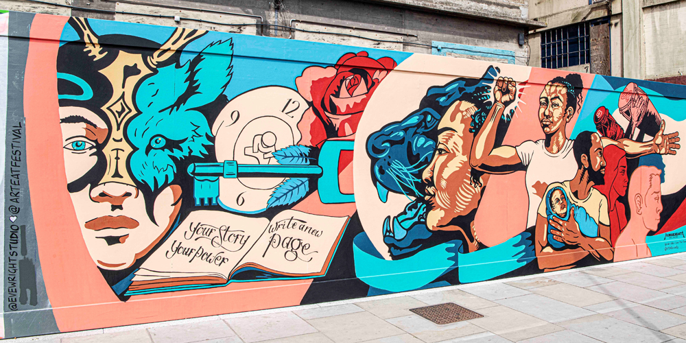 Your Story Mural by Art Eat Events on Ipswich Waterfront
